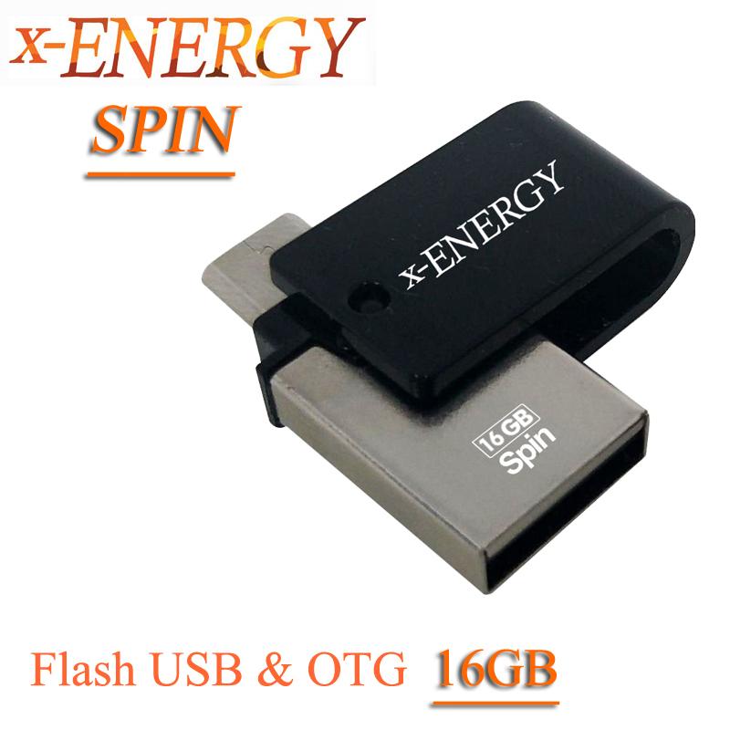 فلش USB & OTG برندX-ENERGY مدل Spin ظرفیت ۱۶GB
