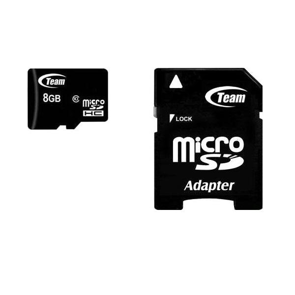کارت حافظه Micro SD/HC 8GB سرعتClass10 برند Team Group