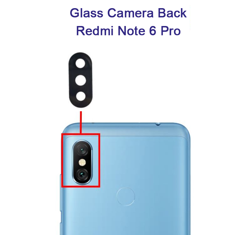 شیشه دوربین شیائومی Glass Camera Back Xiaomi Redmi Note 6Pro