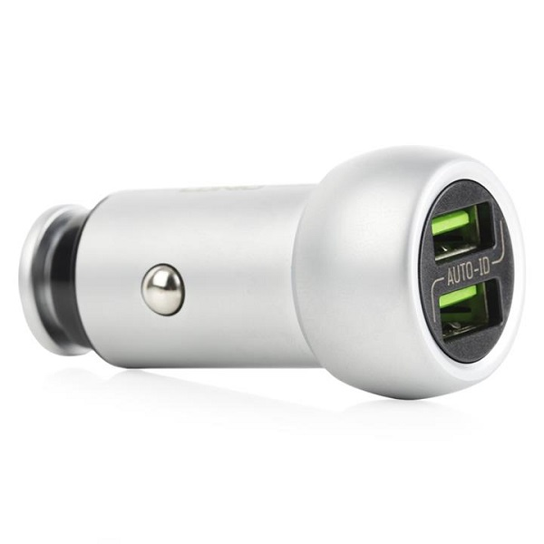 شارژر فندکی فلزی LDNIO مدل C401 همراه با کابل MicroUSB