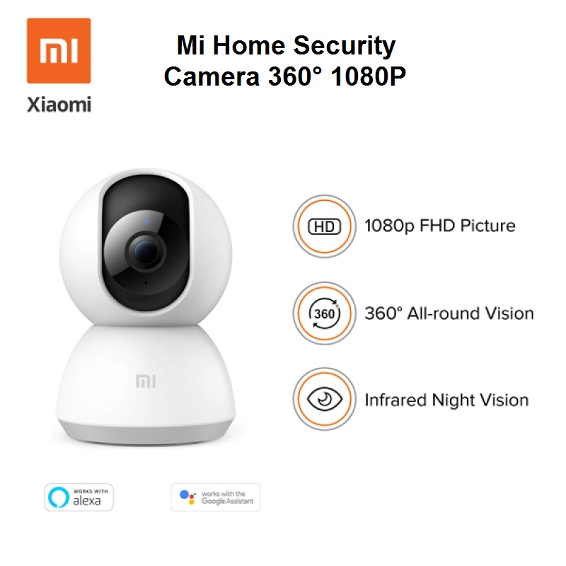 دوربین نظارتی هوشمند شیائومی Mi Home Security Camera 360° 1080P MJSXJ05CM پک گلوبال