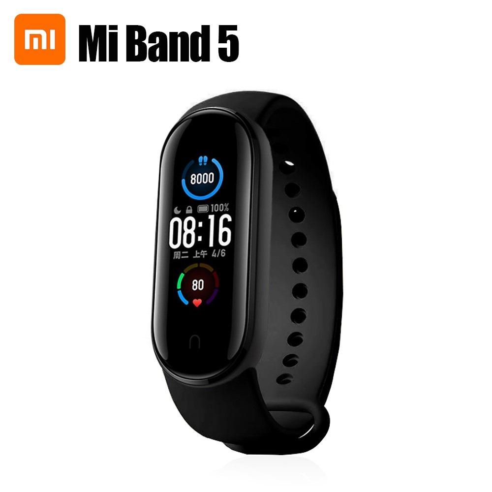 دستبند سلامتی شیائومی مدل Xiaomi Mi Smart Band 5 XMSH10HMپک گلوبال