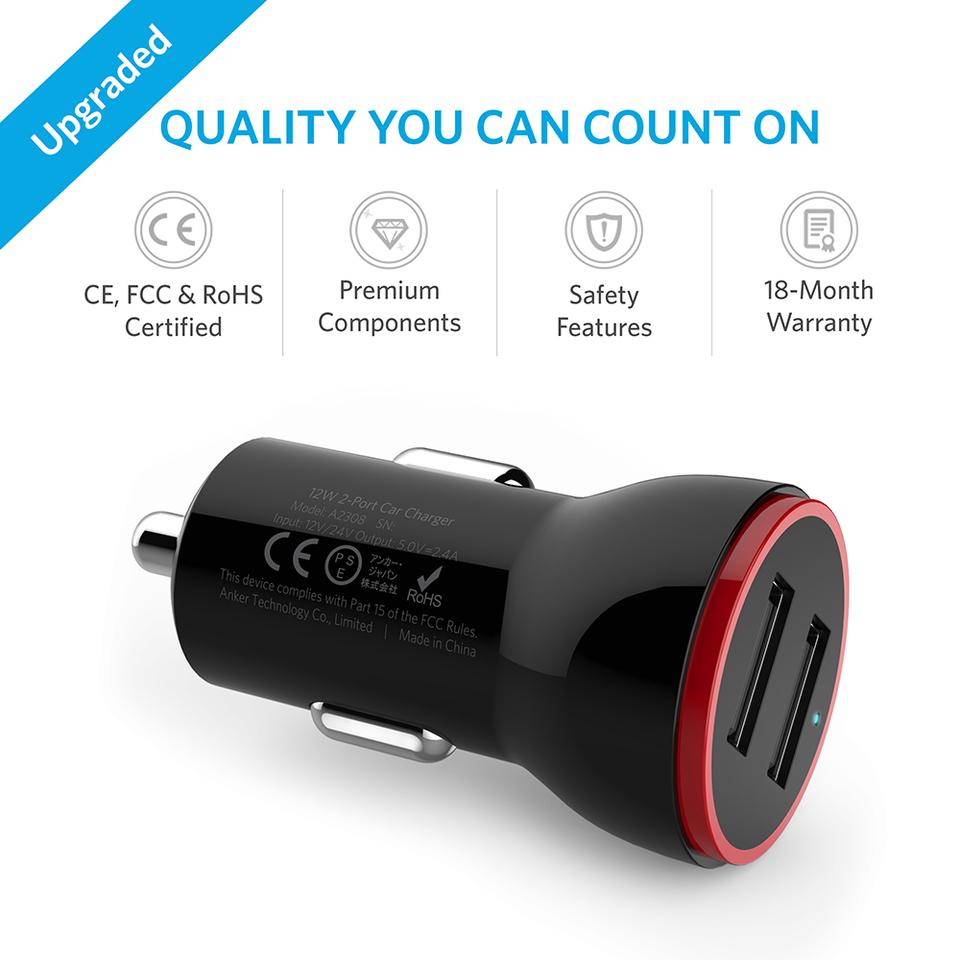 شارژر فندکی انکر Car Charge Anker PowerDrive 2 Lite