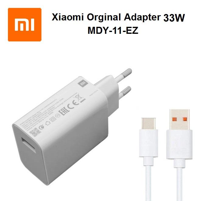 آداپتور شارژر فابریک کارتنی شیائومی+ به همراه کابل Xiaomi Power Adpter 33W MDY-11-EZ