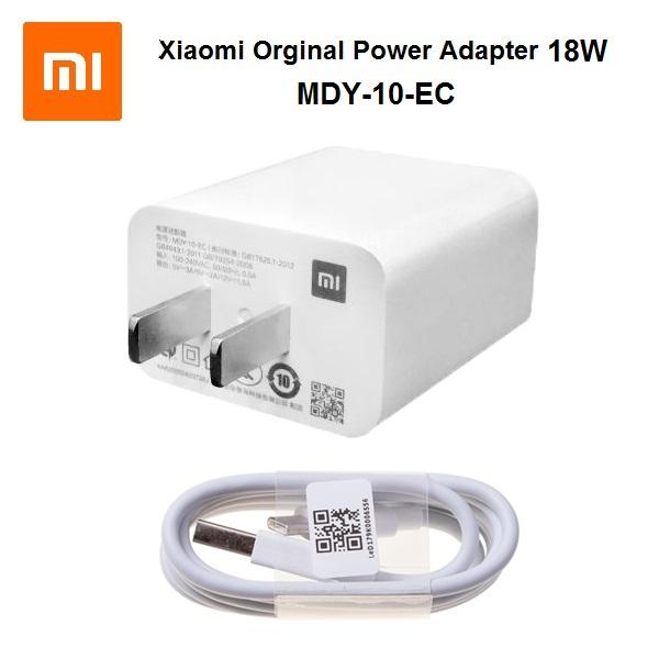 آداپتور شارژر فابریک کارتنی شیائومی+ به همراه کابل  Xiaomi Power Adpter 18W MDY-10-EC